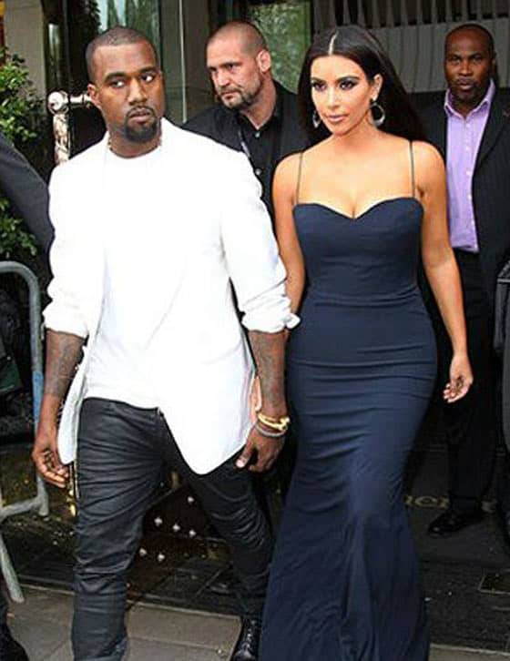 Top 5 Most Fashionable Couples Of The World In 2012 - Kim Kardashian and Kanye West