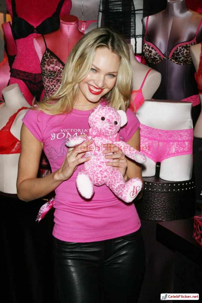 Candice Swanepoel in Pink Top - 8 Pictures -01