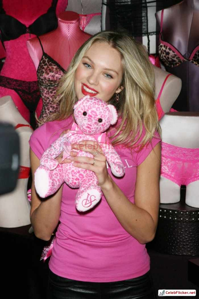 Candice Swanepoel in Pink Top - 8 Pictures -04