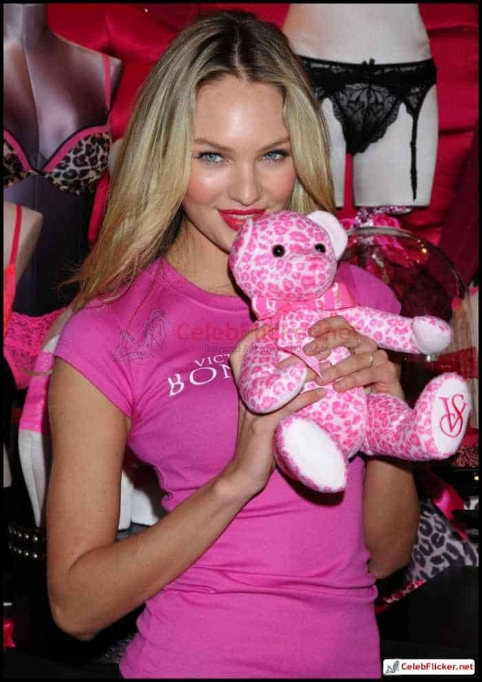 Candice Swanepoel in Pink Top - 8 Pictures -06