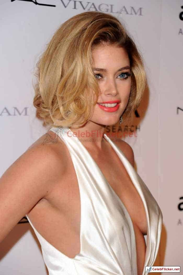 Doutzen Kroes Pictures in Awesome White Dress -05