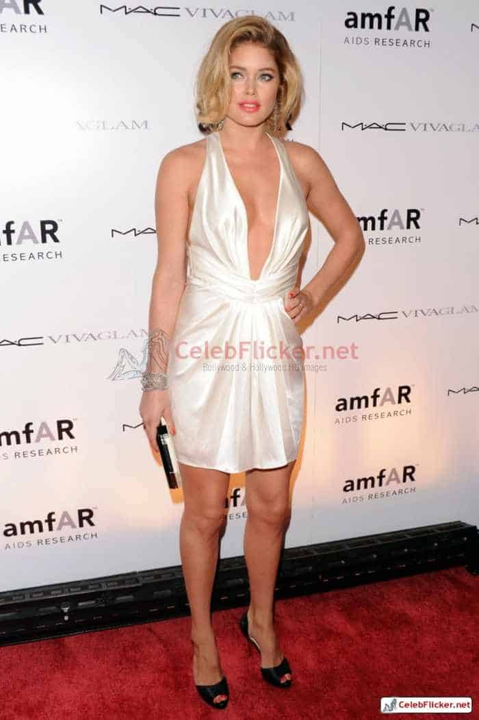 Doutzen Kroes Pictures in Awesome White Dress -07