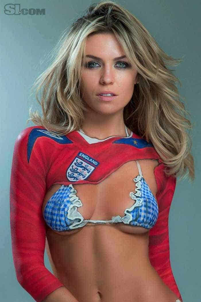 8 Pics of Abbey Clancy Body Painting Sports Illustrated 02