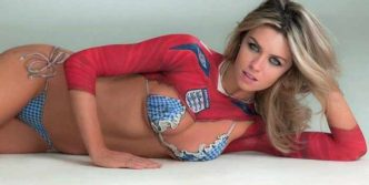 8 Pics of Abbey Clancy Body Painting Sports Illustrated