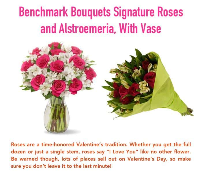 Benchmark Bouquets Signature Roses Valentines Gift for Her