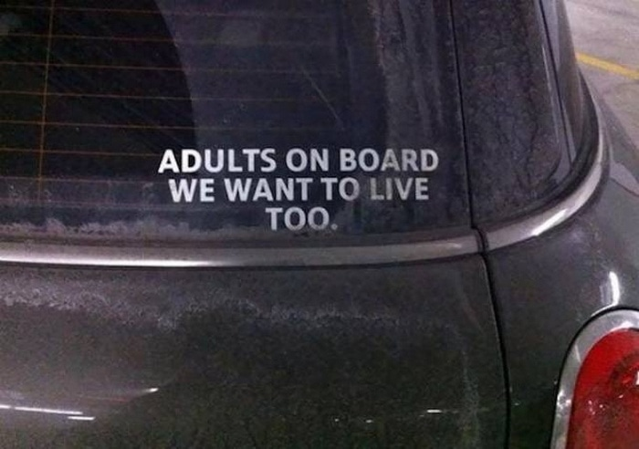 31 Best Funny Car Stickers That Will Make You LOL-11