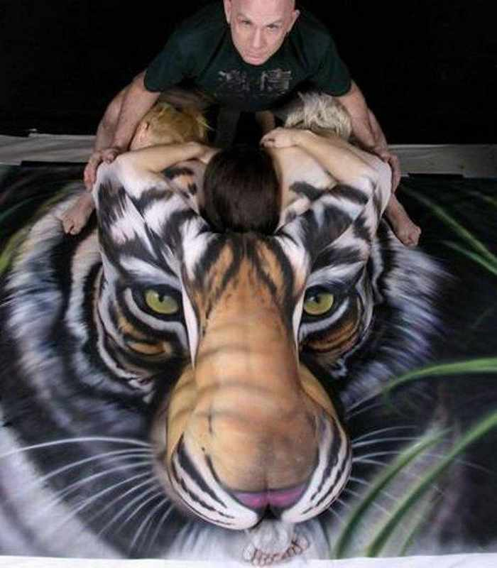 Incredible Tiger Body Art by Craig Tracy - 6 Pics -05