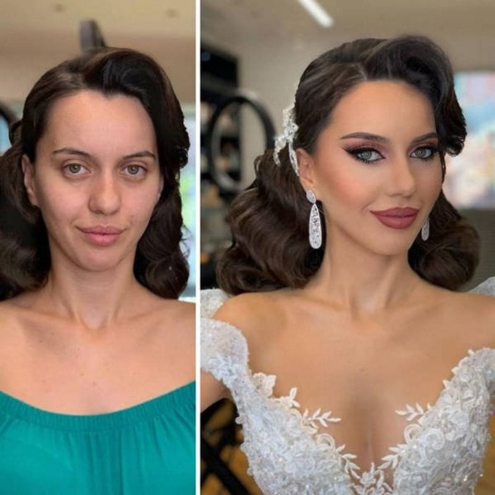 Brides Before And After Their Wedding Makeup (23 Photos)-09