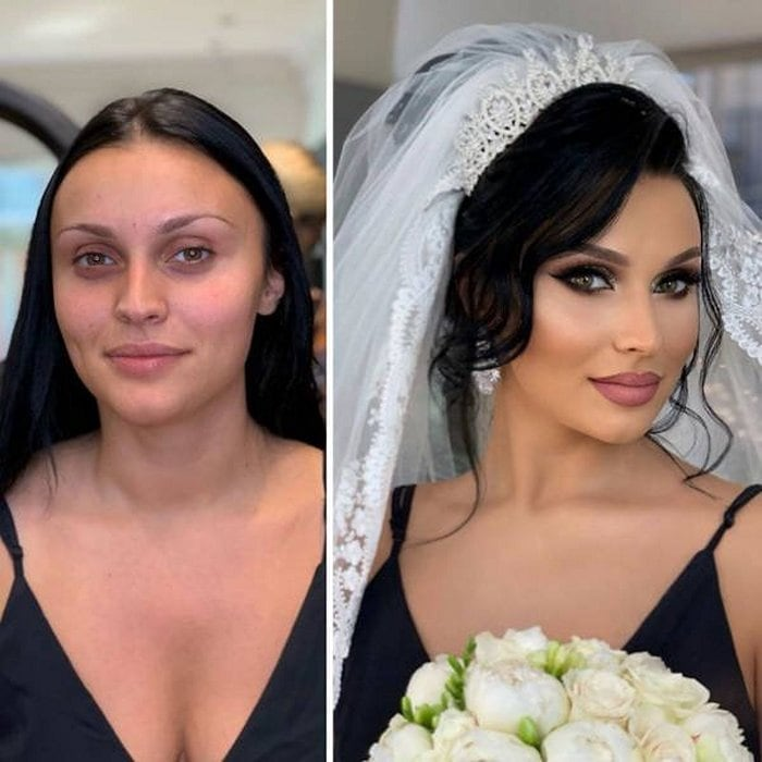 Brides Before And After Their Wedding Makeup (23 Photos)-11