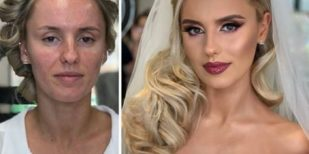 Brides Before And After Their Wedding Makeup (23 Photos)