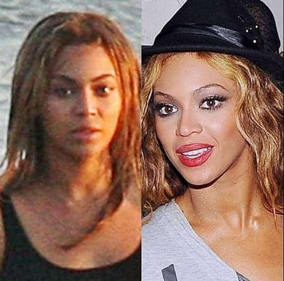 46 Pics of Weird Looks Of Celebrities With And Without Makeup -01