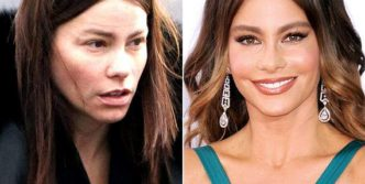 Weird Looks Of Celebrities With And Without Makeup