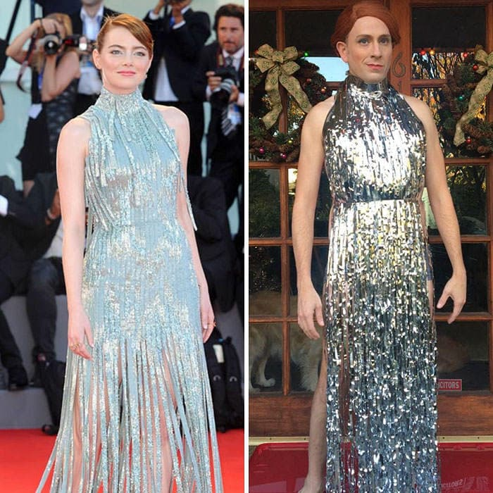 60+ Times Hilariously Celebrity Outfits Recreated By Former 'Buffy' Star-56