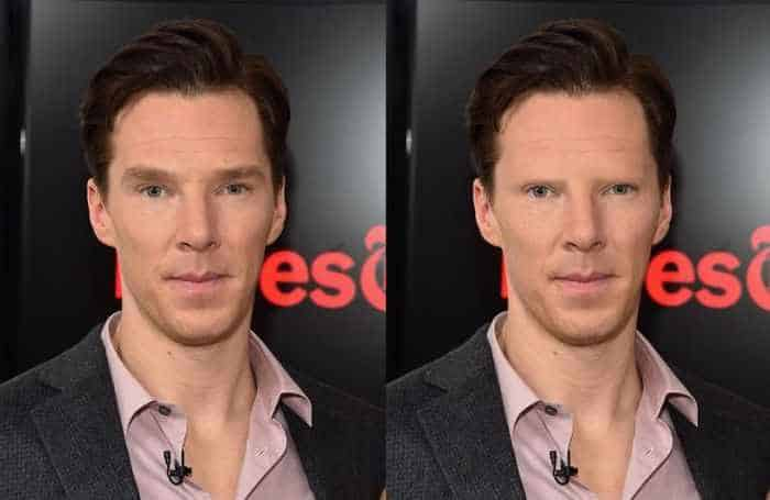 18 Celebrities With And Without Eyebrows - Benedict Cumberbatch