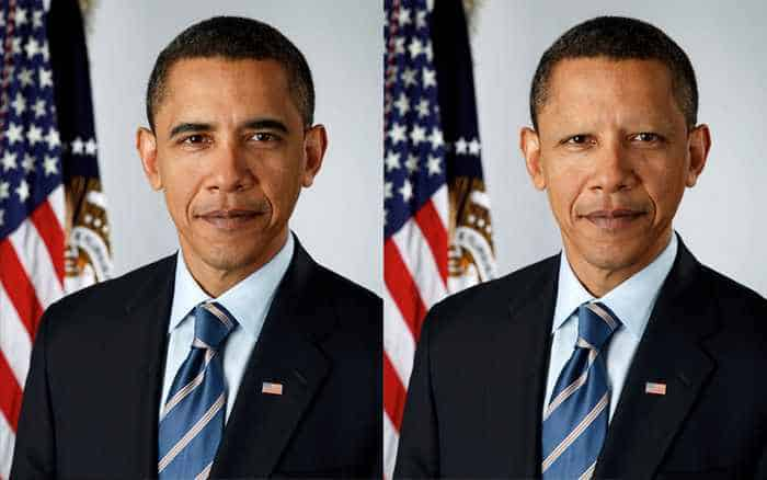 18 Celebrities With And Without Eyebrows - Barack Obama