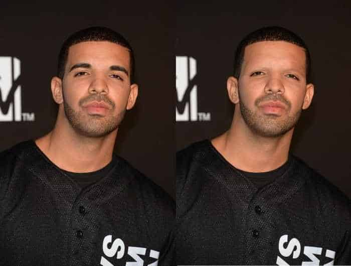 18 Celebrities With And Without Eyebrows - Drake