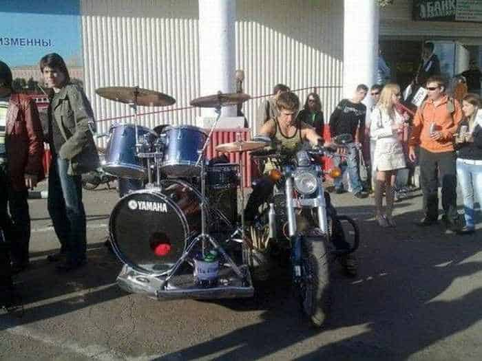 Funny Bike With Drums For Music Lover - 8 Pics -01