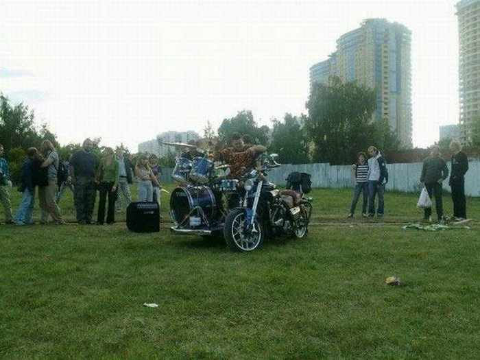 Funny Bike With Drums For Music Lover - 8 Pics -05
