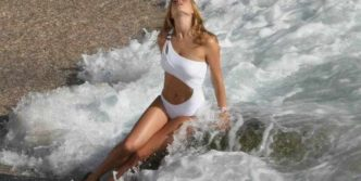 Doutzen Kroes Awesome Photo Shoot In White Swimsuit