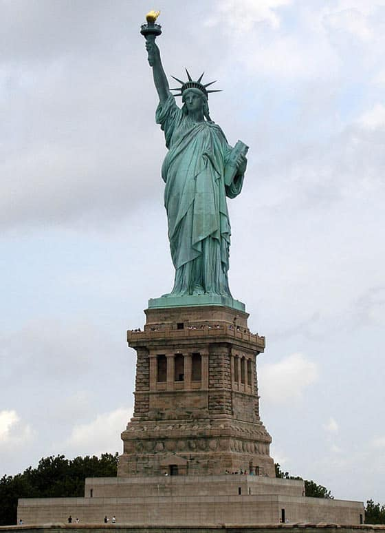 Meanwhile Statue Of Liberty In Winter or Normal Condition