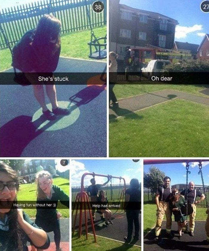 Funny Adults That Stuck At Kids Playgrounds (36 Photos)-15