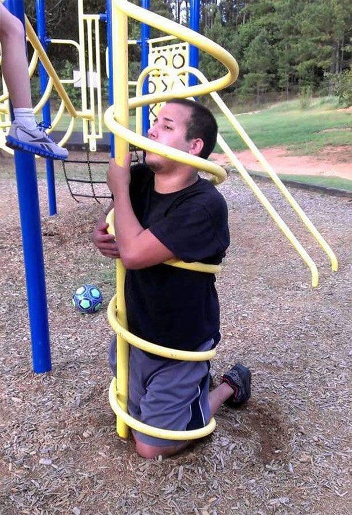 Funny Adults That Stuck At Kids Playgrounds (36 Photos)-30