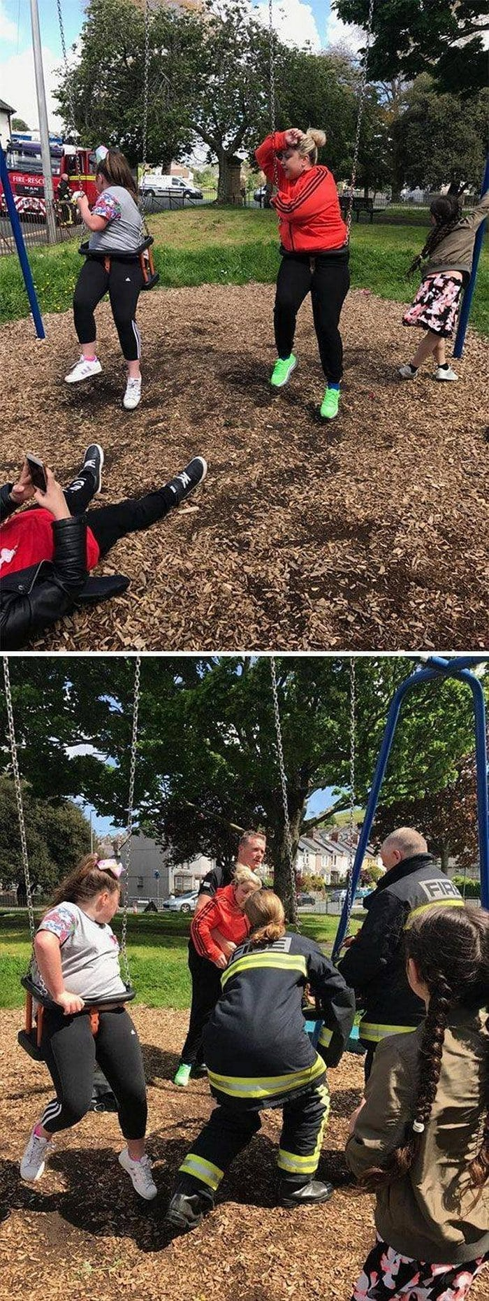 Funny Adults That Stuck At Kids Playgrounds (36 Photos)-35