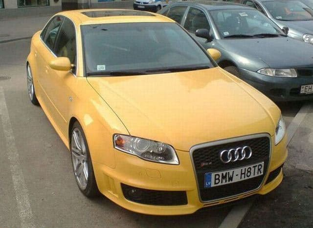 Funny Vehicle Registration Plate Of Audi