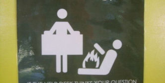 Funny Sign Board – Stupid Question Will Set You On Fire