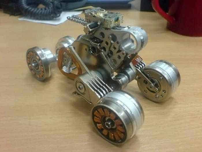 Funny Car That Made From Hard Disk Parts-02