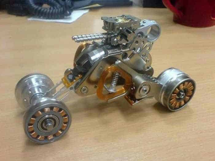 Funny Car That Made From Hard Disk Parts-03