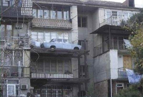 Unusual Car Parking In Balcony Will Shock You