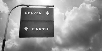 Heaven Up and Earth Below – Awesome Sign Board On the Road