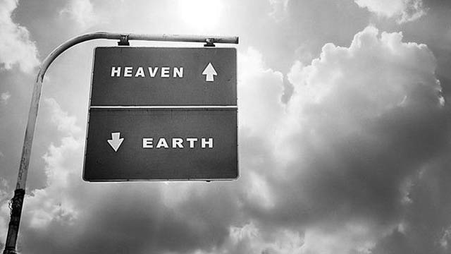 Heaven Up and Earth Below - Awesome Sign Board On the Road