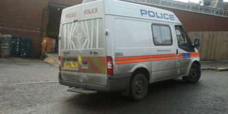 Funny Drawing On Dirty Police Van