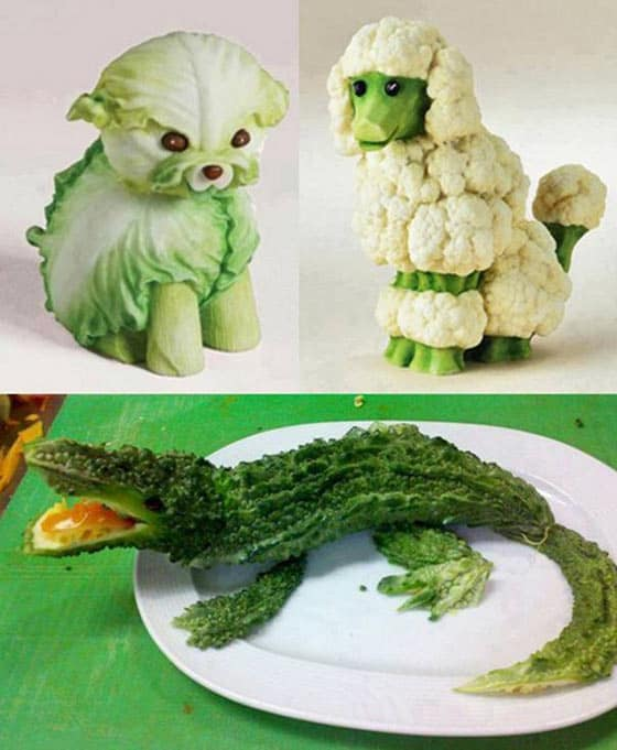 11 Pics of Funny Animals With The Help Of Creative Food Art -07