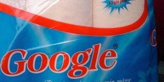 Funny Google Toilet Paper