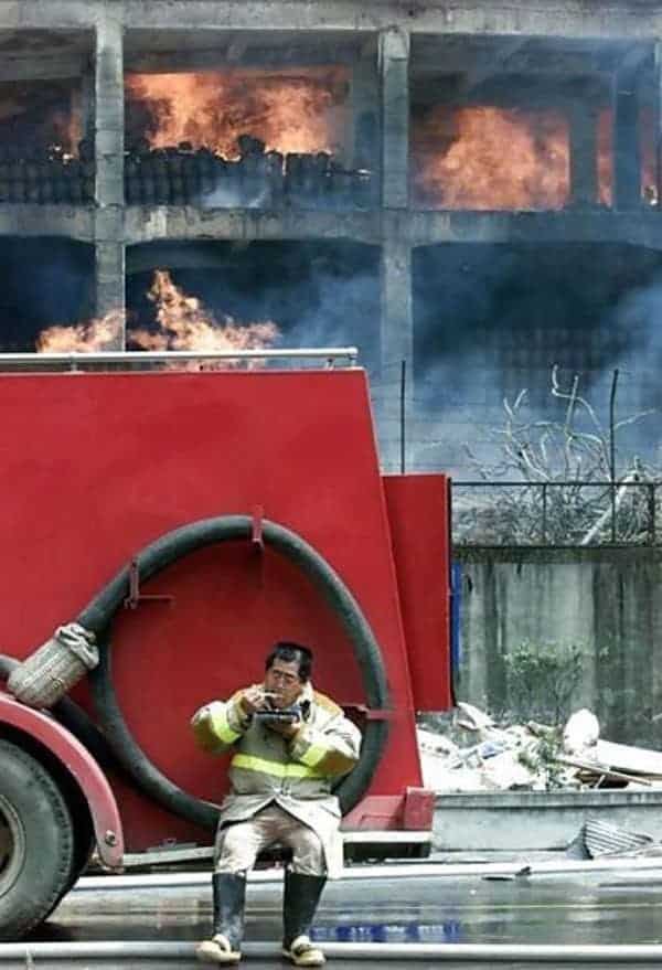 Funny Hungry Firefighter That Will Shock You