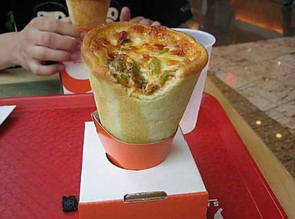 Funny Pizza Cone Ice Cream That Will Make Your Day