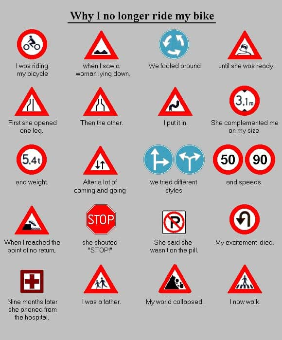 Why I No Longer Ride My Bike - Epic Fail Funniest Traffic Signs Will Blow Your Mind