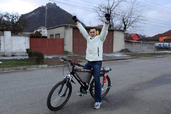 Funny Homemade Bicycle Made From Jet Engine -07