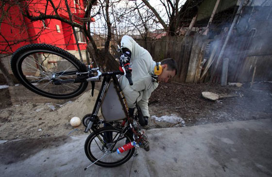 Funny Homemade Bicycle Made From Jet Engine -09