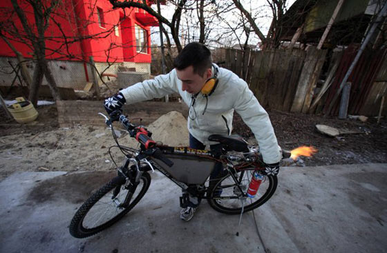 Funny Homemade Bicycle Made From Jet Engine -10
