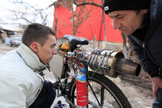 Funny Homemade Bicycle Made From Jet Engine -11