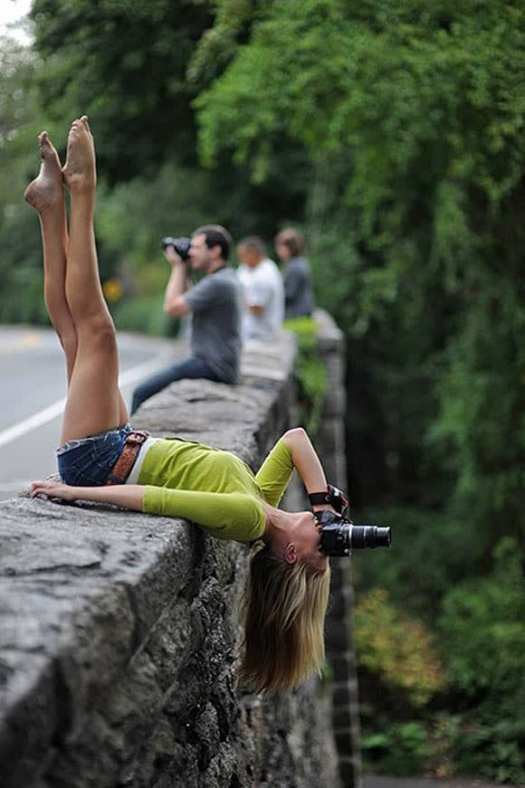 Weird Lady Photographer That Will Make Your Day