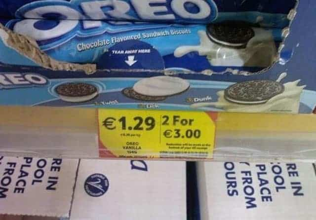 Weird Sell Offer for Oreo Biscuits