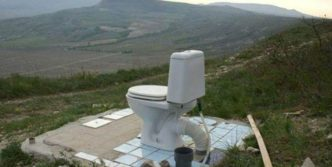 Funny Open Air Toilet That is Ridiculous