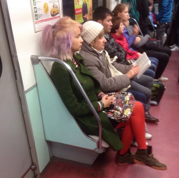 Funny People Of Moscow Subway That Will Make You LOL (64 Pics)-41