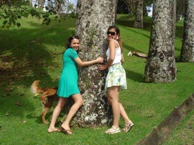 Funny Tree Hug Photobomb Will Make Smile on Your Face