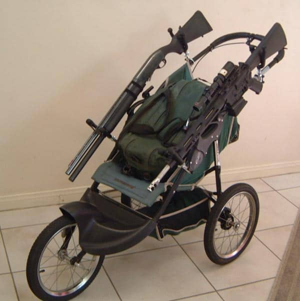 Armored and Weaponized Baby Stroller That Will Shock You